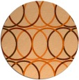 its a round rug - product 707182
