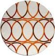 rug #707189 | round red-orange rug