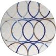 rug #707201 | round blue retro rug