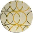 rug #707209 | round yellow retro rug