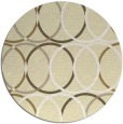 rug #707213 | round yellow retro rug