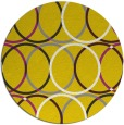 rug #707221 | round yellow circles rug