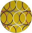 rug #707221 | round yellow retro rug