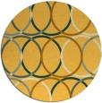 rug #707225 | round light-orange rug