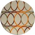 rug #707237 | round orange rug