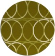 rug #707241 | round light-green circles rug