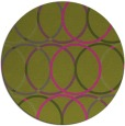 rug #707249 | round light-green circles rug