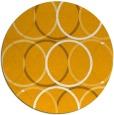 rug #707257 | round light-orange circles rug