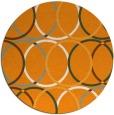 rug #707265 | round light-orange circles rug