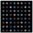 rug #709401 | square brown circles rug