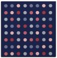 rug #709477 | square blue-violet retro rug