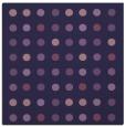 rug #709481 | square purple circles rug