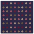 rug #709493 | square blue-violet retro rug