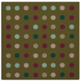 rug #709505   square brown circles rug