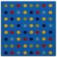 rug #709553 | square blue geometry rug
