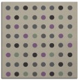 rug #709565 | square purple circles rug