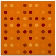 rug #709573 | square orange circles rug