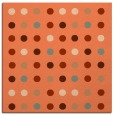 rug #709585 | square red-orange circles rug