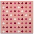 rug #709605 | square white circles rug