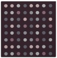 rug #709621 | square purple circles rug