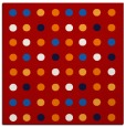 rug #709625   square red circles rug