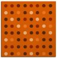 rug #709645 | square red-orange circles rug