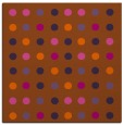 rug #709649 | square red-orange geometry rug