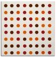 rug #709653 | square red-orange geometry rug
