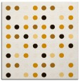 rug #709681 | square brown circles rug