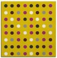 rug #709685 | square yellow circles rug