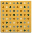 rug #709689 | square light-orange circles rug