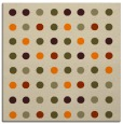 rug #709701 | square beige circles rug