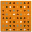 rug #709729 | square light-orange circles rug