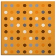 rug #709733 | square light-orange circles rug