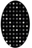 rug #709741 | oval black circles rug