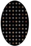 rug #709745 | oval black retro rug