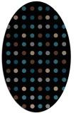 rug #709753 | oval black circles rug