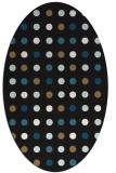 rug #709757 | oval black rug