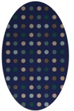 rug #709769 | oval blue-green circles rug