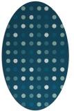 rug #709785 | oval blue-green circles rug