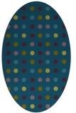 rug #709797 | oval blue-green circles rug