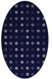 rug #709821 | oval blue-violet retro rug