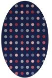 rug #709829 | oval blue-violet circles rug