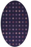 rug #709833   oval purple retro rug