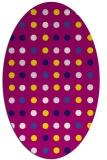rug #709838 | oval retro rug