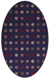 rug #709845 | oval beige circles rug