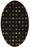 rug #709853 | oval black circles rug