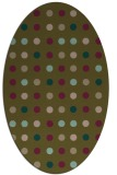 rug #709857 | oval brown retro rug