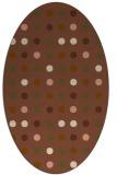 rug #709881 | oval mid-brown retro rug