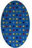 rug #709905 | oval blue popular rug